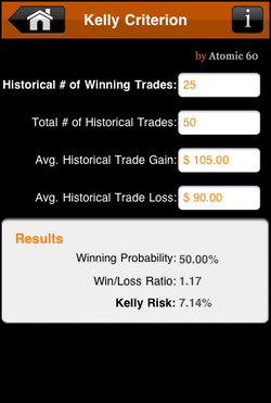 Kelly Criterion, Kelly Criteria, Kelly Formula, Kelly Calculator